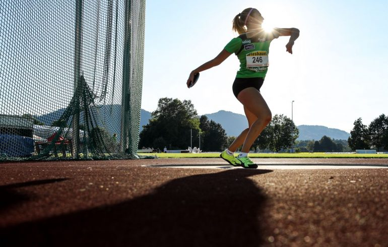 KLAGENFURT,AUSTRIA,05.SEP.20 - ATHLETICS - OELV, Austrian under-18 and under-23 Championships, discus throw. Image shows Hannah Ladinig (AUT). Photo: GEPA pictures/ Matic Klansek